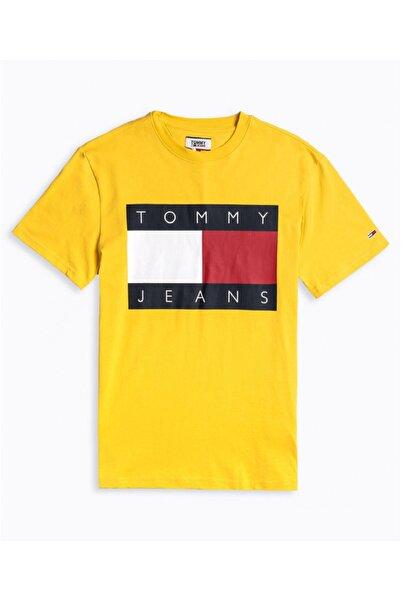 Tommy Hilfiger Erkek Sarı  T-shirt