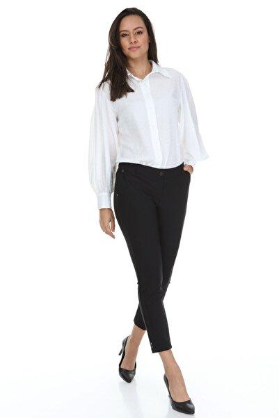Modayız Siyah Cepli Kumaş Pantolon 31e-3113