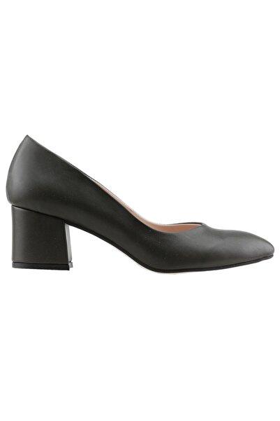 Ayakland Kadın Yeşil Cilt 5cm Topuklu Ayakkabı 97544-312