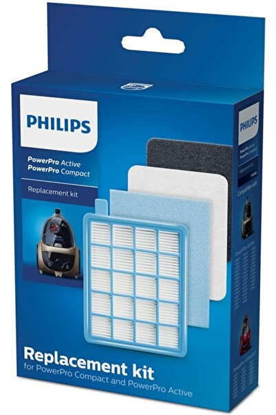 Philips Powerpro Compact Fc 9323/09 Hepa Filtre Seti 2 Kutu