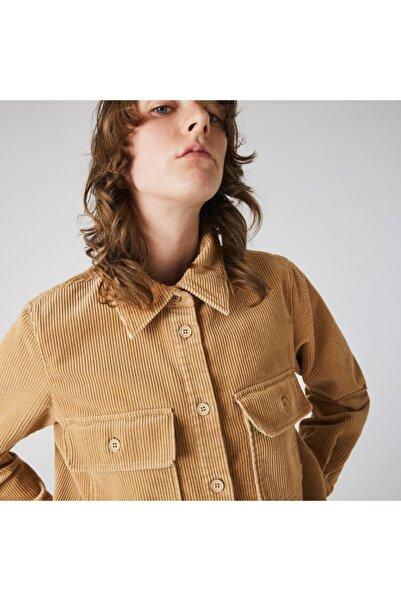 Lacoste L!VE Kadın Kahverengi Gömlek CF1291