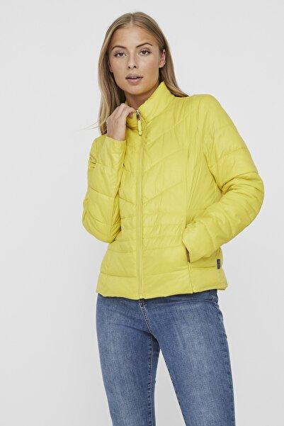 Vero Moda Kadın Sarı Kapüşonsuz Cepli Şişme Mont 10230860 VMSORAYASIV