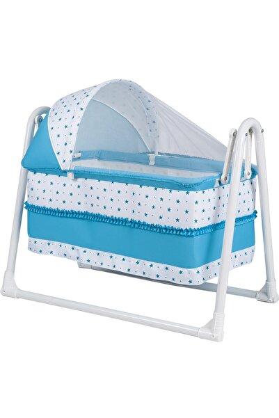 POLLY BABY Mavi Portatif Sallanır Sepet Hamak Beşik
