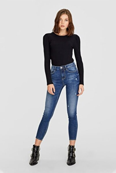 Kadın Koyu Mavi Yüksek Bel Skinny Jean 01400039
