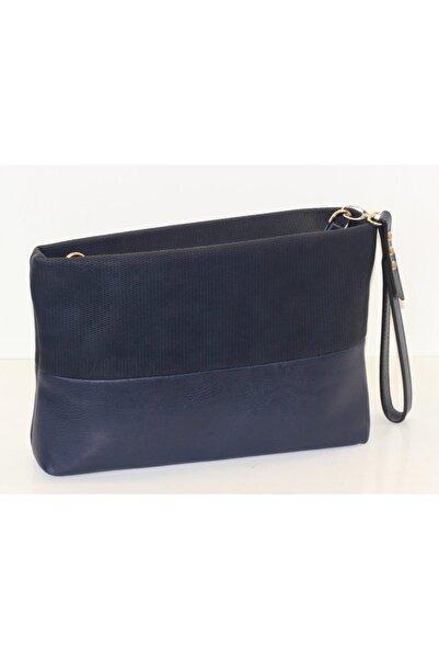 black bags Kadın Lacivert Klasik Clutch