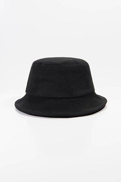 Addax Kadın Siyah Kaşe Bucket Şapka ŞPK1027 ADX-0000022803