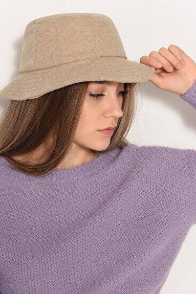 Addax Kadın Bej Kaşe Bucket Şapka ŞPK1027 ADX-0000022803