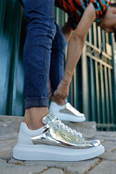 Chekich Erkek Beyaz Gümüş  Ayakkabı  Ch259 Bt