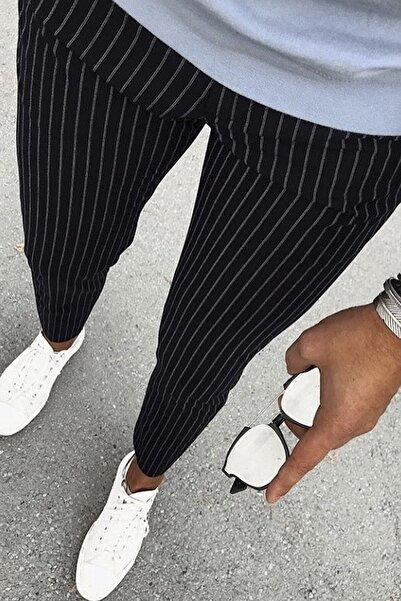 PHILIPLOREN Erkek Siyah Bilek Boy Spor Pantolon