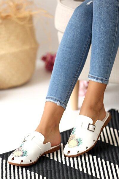 Pembe Potin Kadın Ananas Sandalet