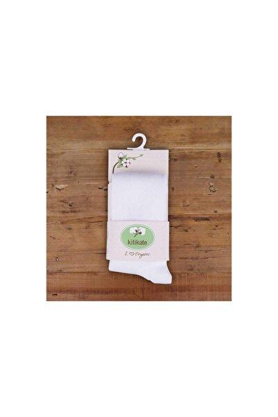 KitiKate 95941 Organik Külotlu Çorap Beyaz-0-0 Ay
