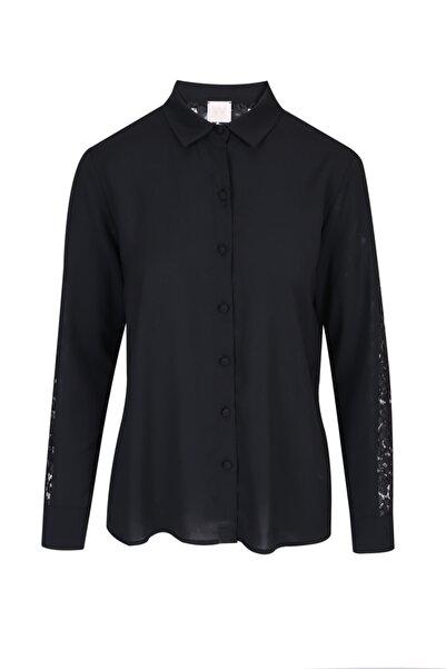 W Collection Kadın Siyah Gömlek Bluz .v57 .40