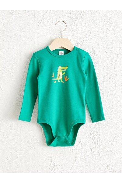 LC Waikiki Erkek Bebek Zümrüt Yeşili Gsu Bebek Body & Zıbın