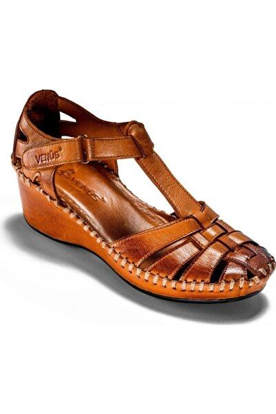 Venüs Kadın Kahverengi Hakiki Deri Casual Confort Ayakkabı