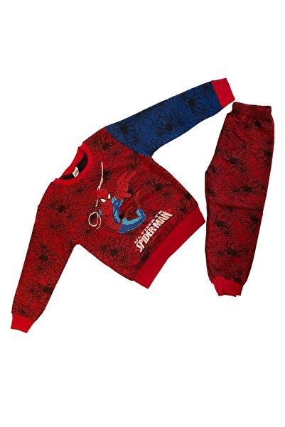Pomegranate Unisex Kırmızı Lacivert Spiderman Çocuk Eşofman Takımı
