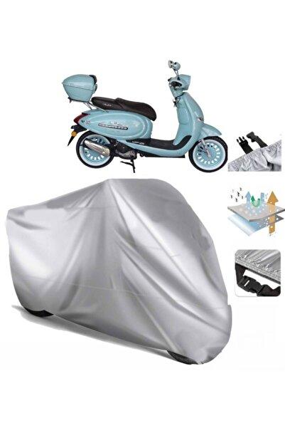 CoverPlus Arora Ar 50 Cappuccino Motosiklet Brandası Motor Branda (bağlantı Tokalı)