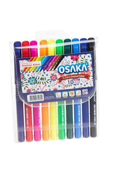 Osaka 10 Renk Fineliner Kalem 12'li