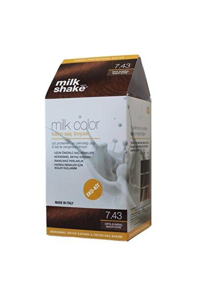 Milkshake Milk Color No: 7.43 Orta Kumral Bakır Dore
