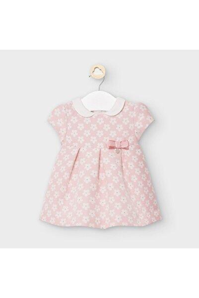 MAYORAL Kız Bebek Çiçek Jakarlı Bebe Yakalı Elbise 2861