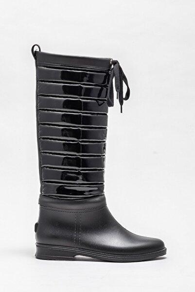 Elle Shoes Kadın Honoka Sıyah Çizme 20KPM1002