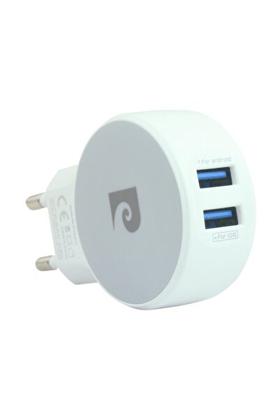 Pierre Cardin Çift Usb Çıkışlı Şarj Cihazı & Micro Kablo PCQ-E17