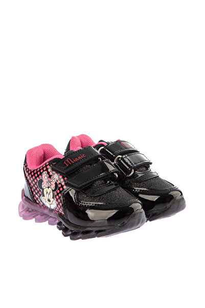 Minnie Mouse Siyah Kız Çocuk Ayakkabı