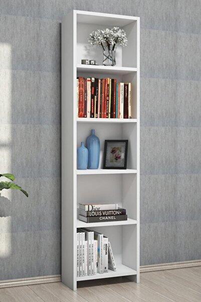 Puzzle Design Puzzle Desıgn Barkın 5 Raflı Beyaz Kitaplık