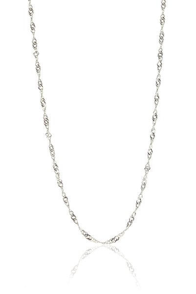 Söğütlü Silver Kadın Gümüş Singapur Modeli 60 Cm Zincir SGTL8932