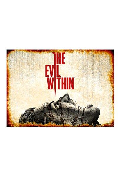 Tablomega 50cmX70cm Ahşap Tablo The Evil Within