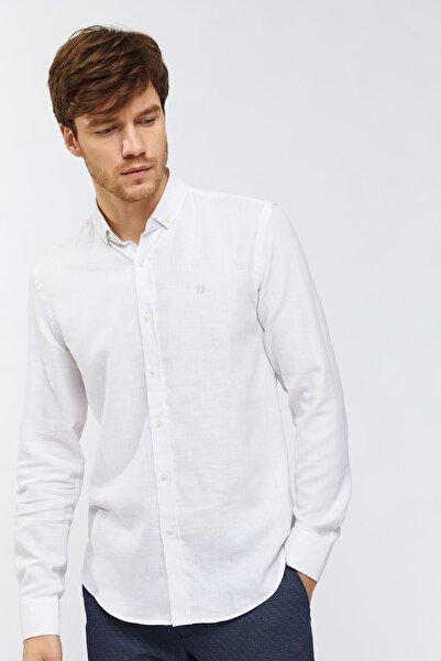 Avva Düz Düğmeli Yaka Slim Fit Gömlek