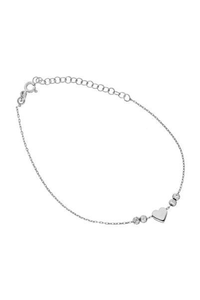 Glorria Kadın Gümüş Kalp Halhal DT0541