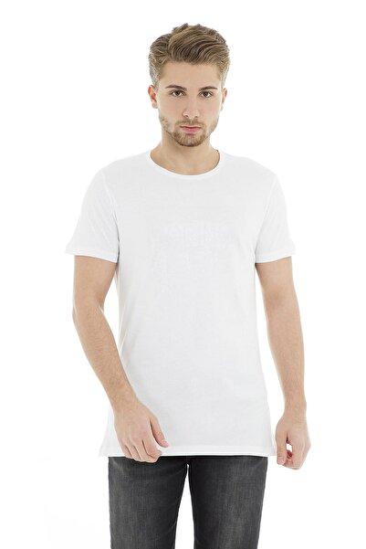 Five Pocket Erkek Beyaz T-Shirt - 8085