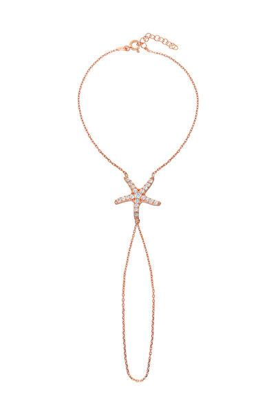 Glorria Kadın Gümüş Rose Deniz Yıldızı Şahmeran VK1081