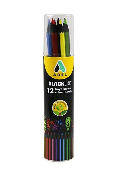 Adel 12 Renk Blacklıne Metal Tüp Kuru Boya 2312013
