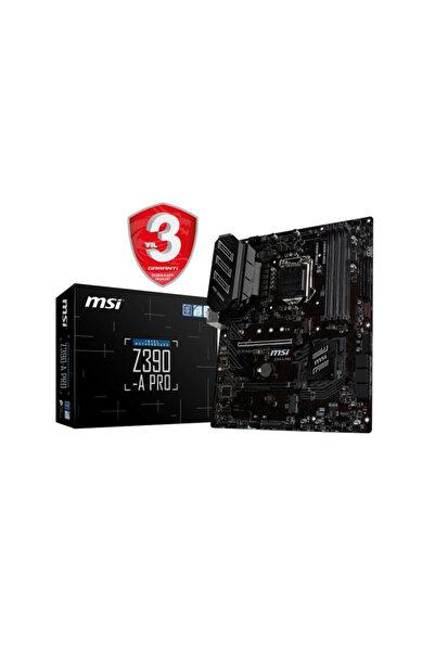 MSI Z390-A PRO Intel Z390 1151 8.Nesil Soket 4400MHz O.C. DDR4 USB Type-C DVI&DP ATX Anakart
