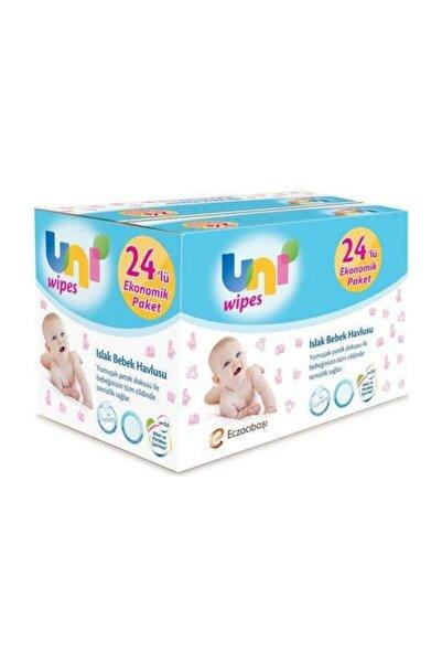 Uni Baby Uni Wipes Islak Havlu Kapaklı 90'lı 24 Paket 2160 Yaprak