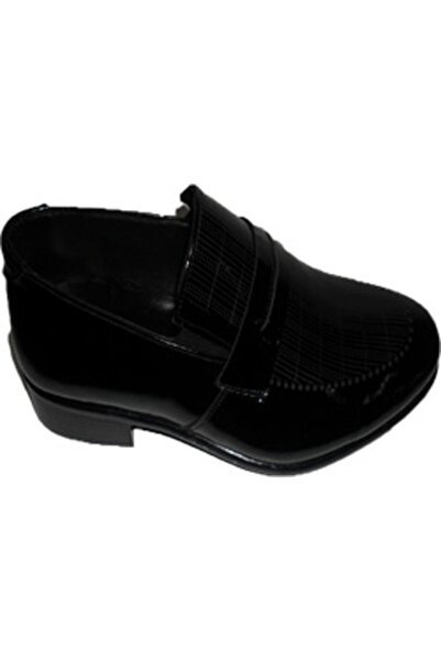 NK Zeki Satıl Yüzü Çizgili Siyah Ayakkabı 40