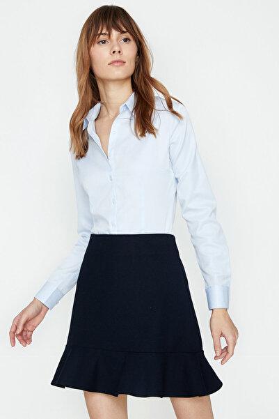 Koton Kadın Mavi Gömlek 9KAK62442YW