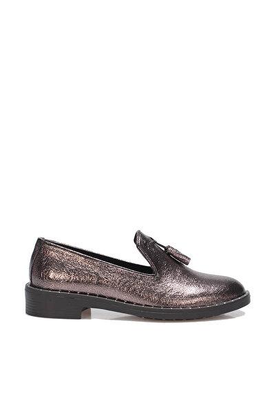 İnci Gümüş Kadın Loafer Ayakkabı 120130009196