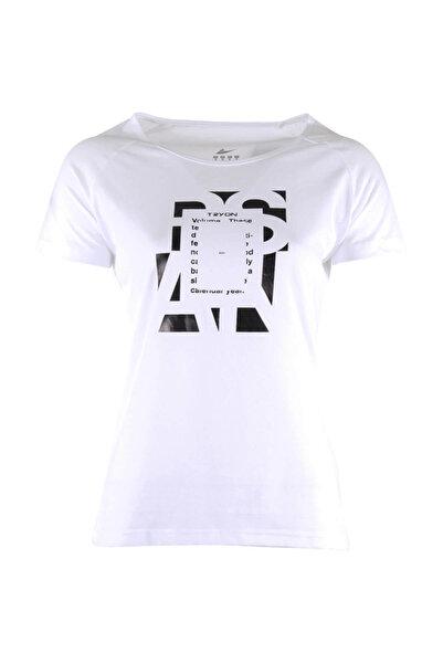 TRYON Kadın T-shirt - Tryon Evora Bisiklet Yaka Tişört Beyaz - 37614