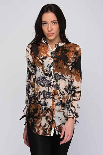 Lee Cooper Kadın Sasha Desenli Uzun Kol Gömlek 182 LCF 241010