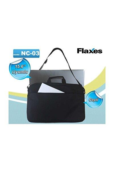 FLAXES 15.6 Siyah İki Bölmeli Notebook Çantası NC-03