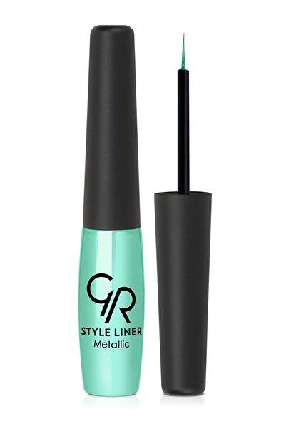Golden Rose Metalik Turkuaz Eyeliner - Style Liner Metallic Eyeliner No: 11 8691190170110