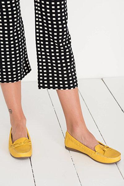 Derimod Sarı Kadın Loafer