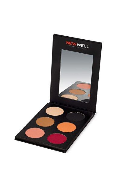 New Well 6'lı Göz Far Paleti - Eyeshadow Palette Kızıl Tonlar 8680923319513