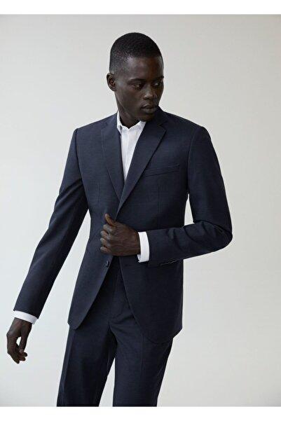 MANGO Man Dar Kesim Yünlü Takım Blazer Ceket
