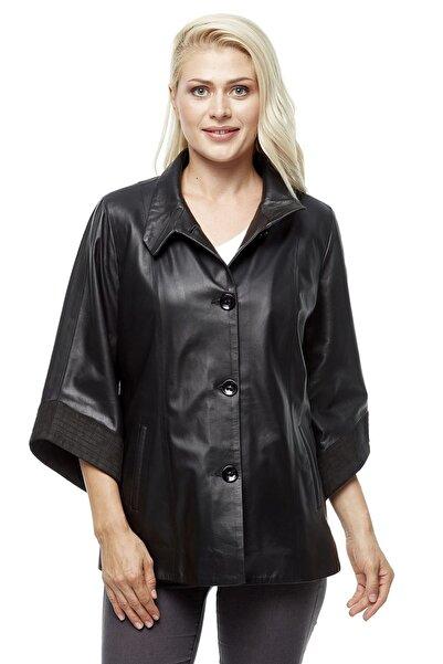 Deriza Kadın Gabi Siyah Deri Ceket 3225