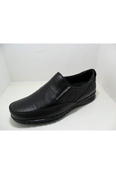 NK Emre Ayakkabı Siyah Lastikli
