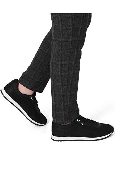 Rock & Roll Siyaha Siyah Kaymaz Tabanlı Günlük Sneaker