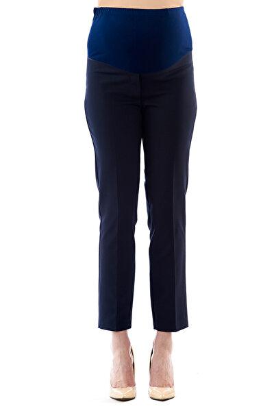 Motherway Hamile Belden Ayarlı Lacivert Iş Pantolonu